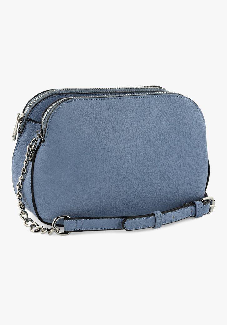 Blauwe handtas met 3 compartimenten