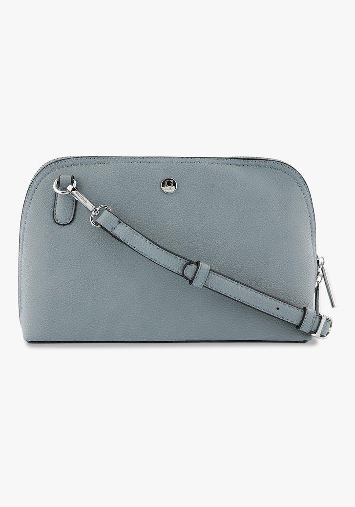 Blauwe handtas met afneembare schouderband