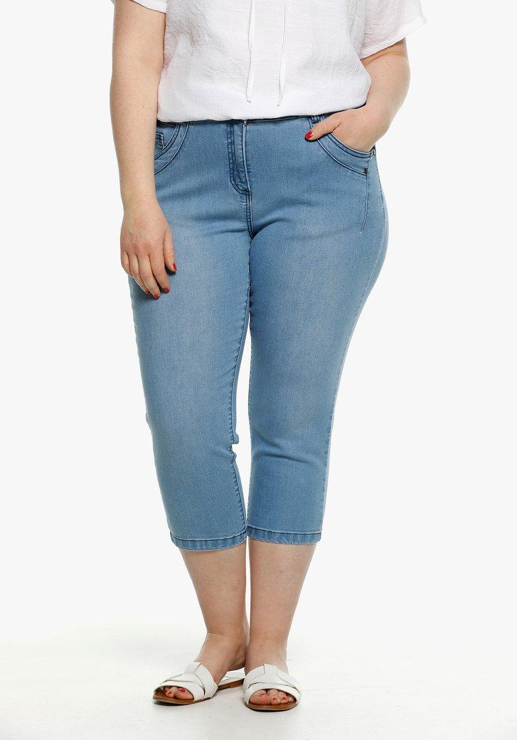 Blauwe jeans, driekwart lengte - slim fit
