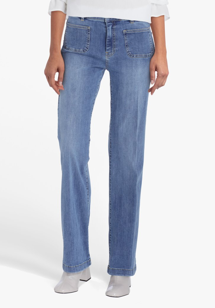 Blauwe jeans - flared fit
