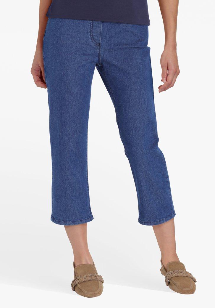 Blauwe jeans met elastische tailleband