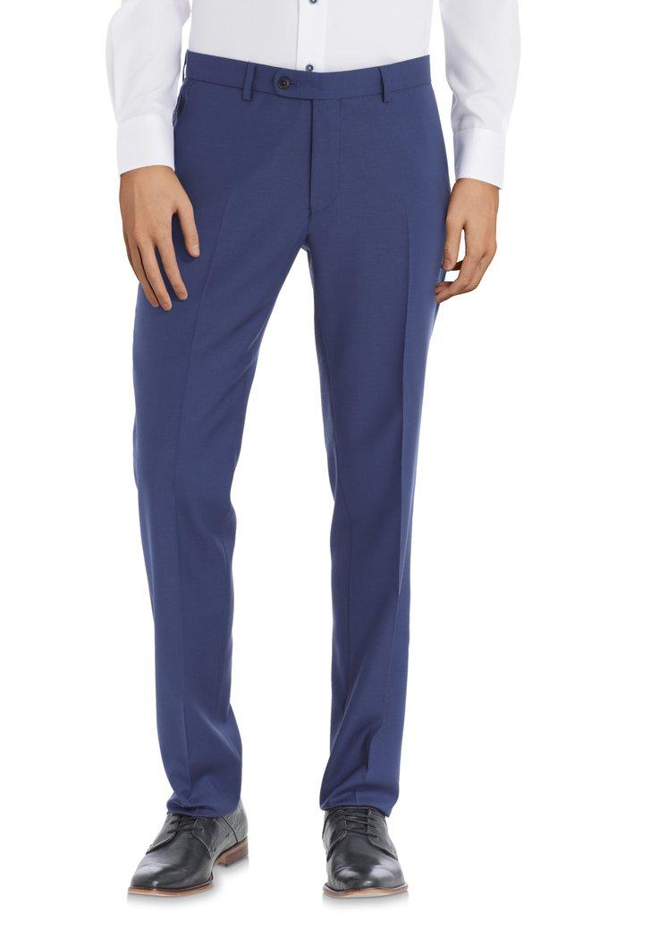 Blauwe kostuumbroek – slim fit - Warschau