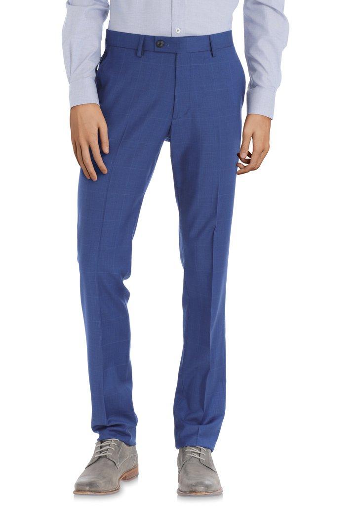 Blauwe kostuumbroek - Athene – regular fit