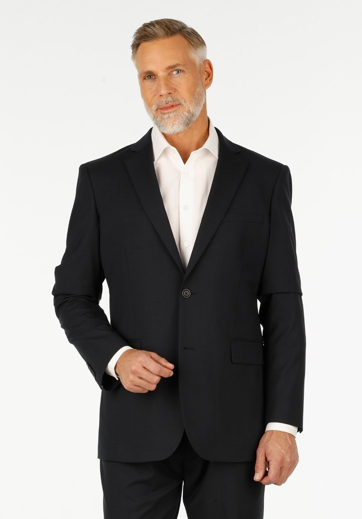 Blauwe kostuumvest - Cadan - comfort fit
