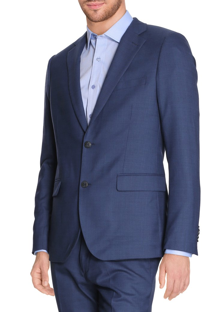 Blauwe kostuumvest - Specter - regular fit Heren, merk: Dansaert Black