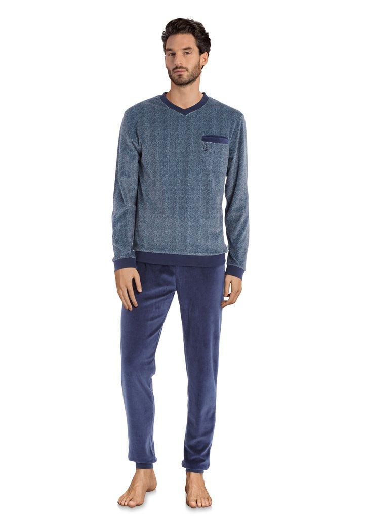 Blauwe pyjama met streepjes