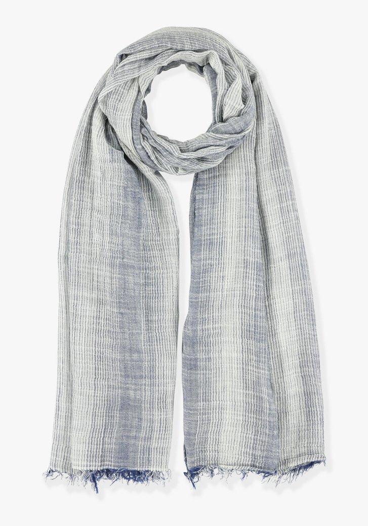 Blauwe sjaal met dégradé