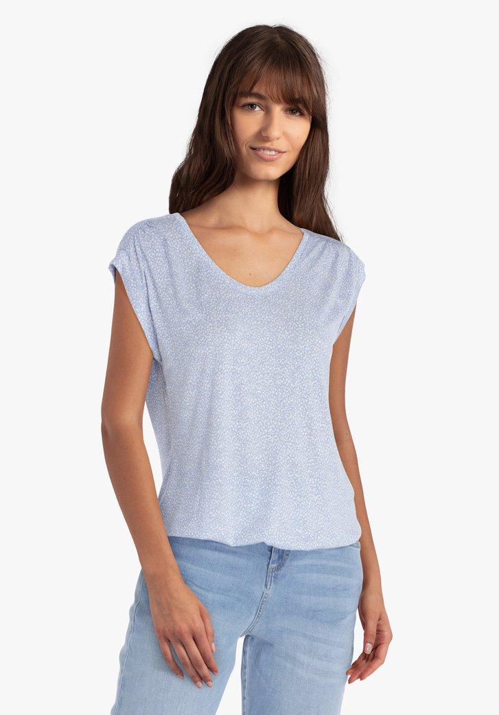Blauwe T-shirt met witte print