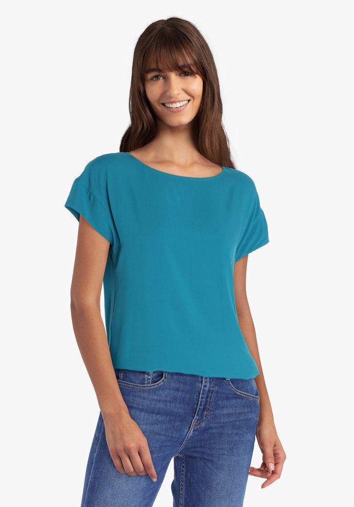 Blauwgroene blouse