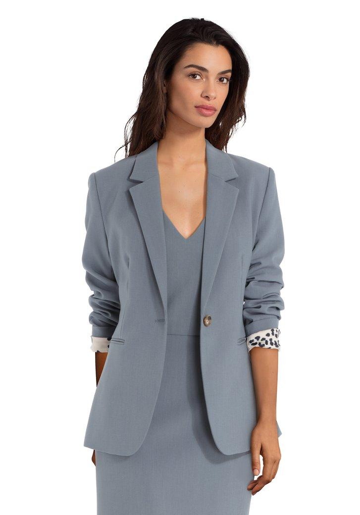Blazer gris-bleu avec bouton
