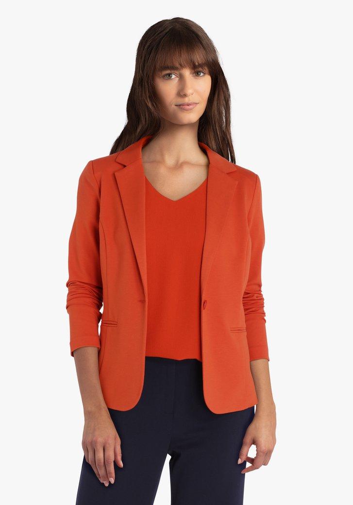 Blazer marron-orange