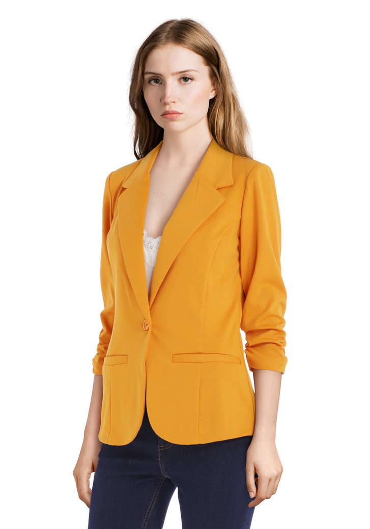 Blazer orange à manches 3/4