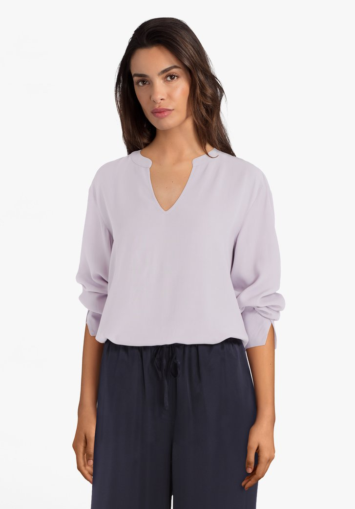 Blouse lila en viscose
