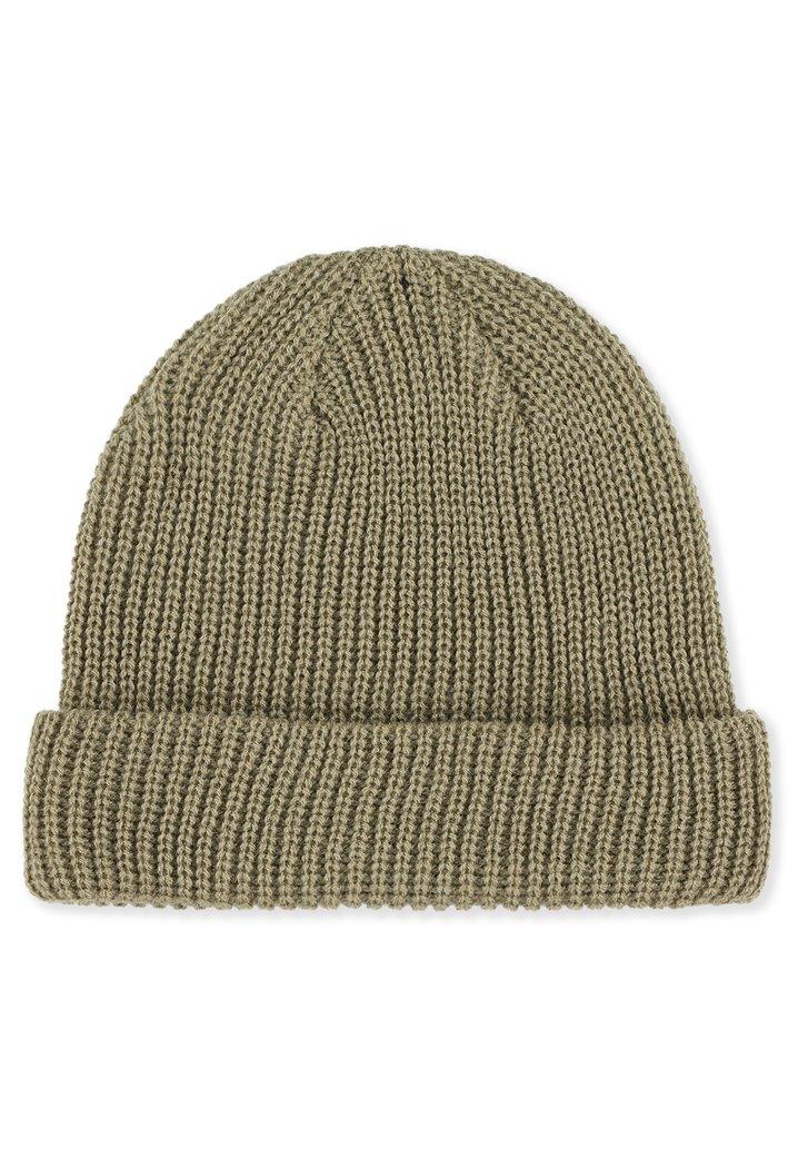Bonnet beige en tricot