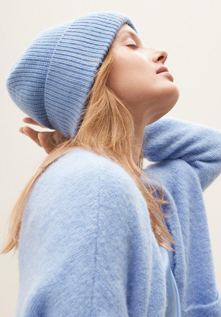 Bonnet bleu acier