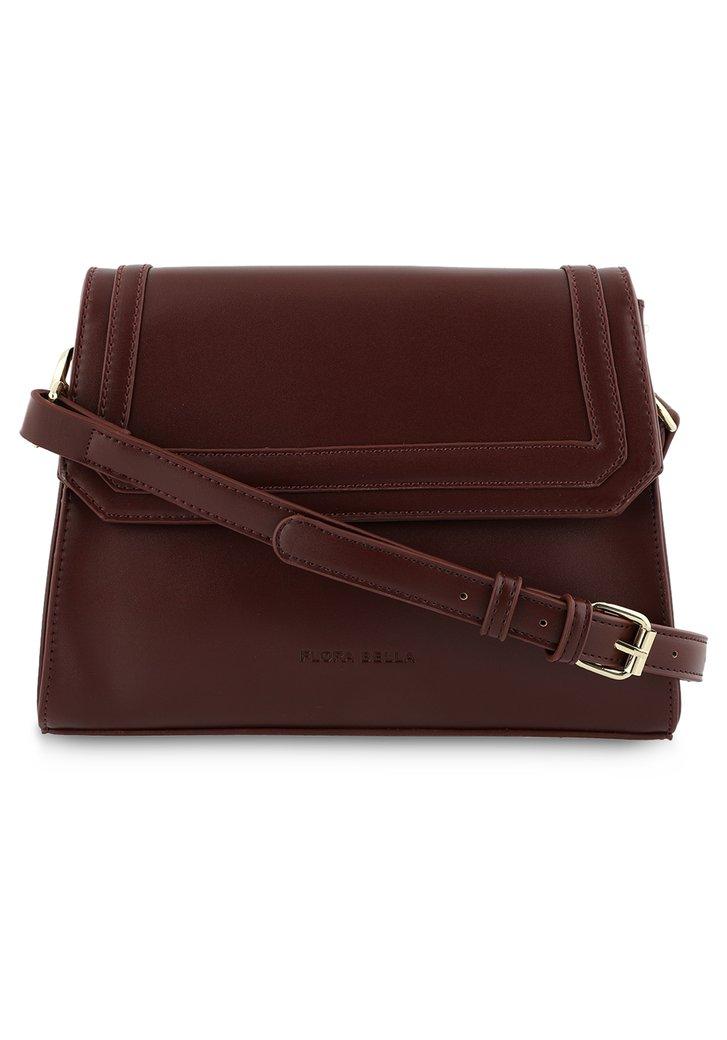 Afbeelding van Bordeaux handtas met flap