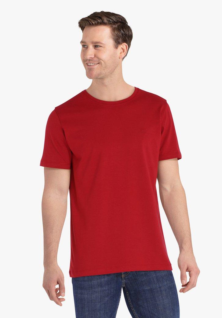 Bordeaux katoenen T-shirt