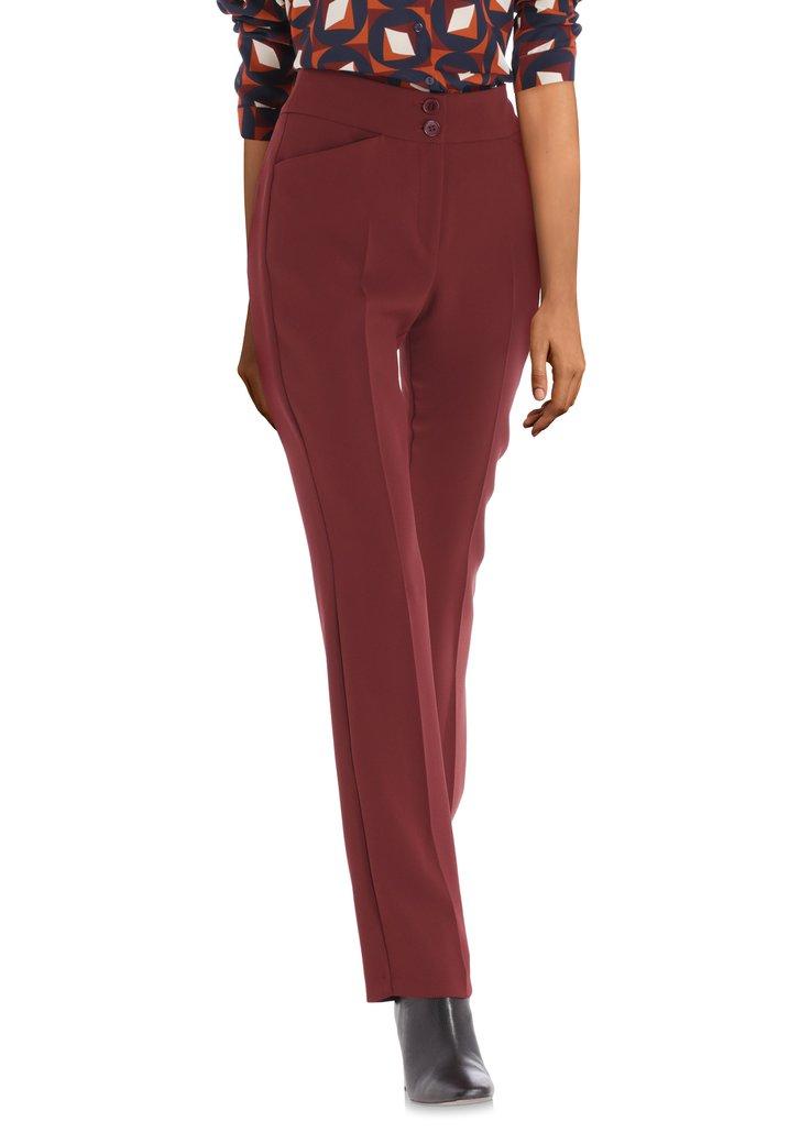 Afbeelding van Bordeaux kostuumbroek - straight fit