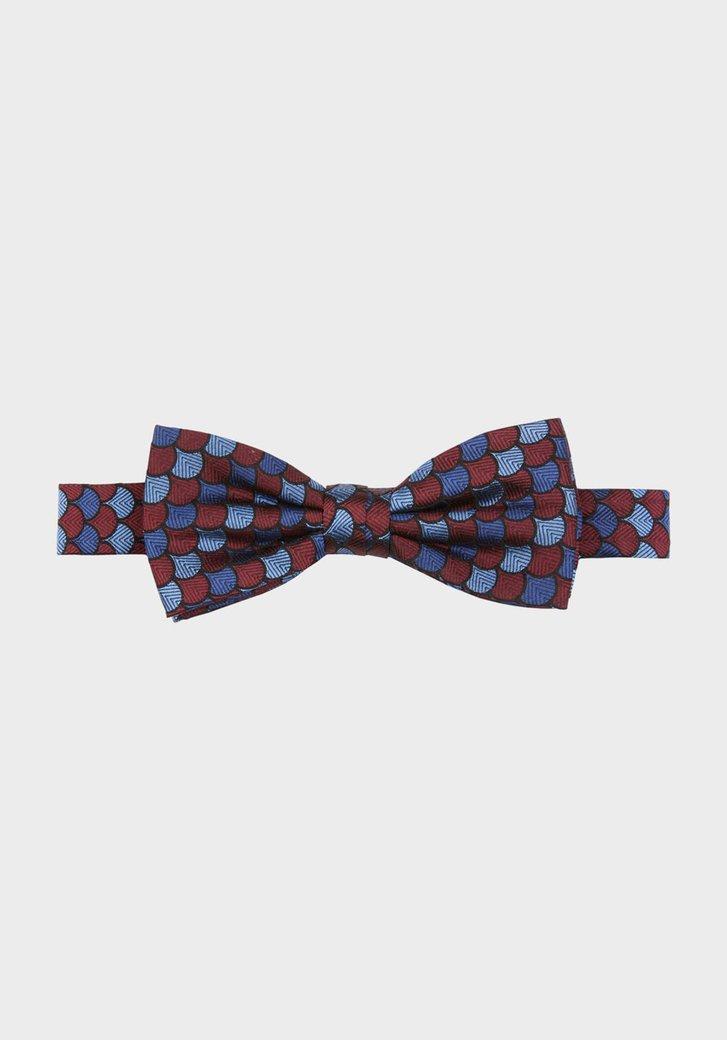 Bordeaux strik met geometrisch patroon