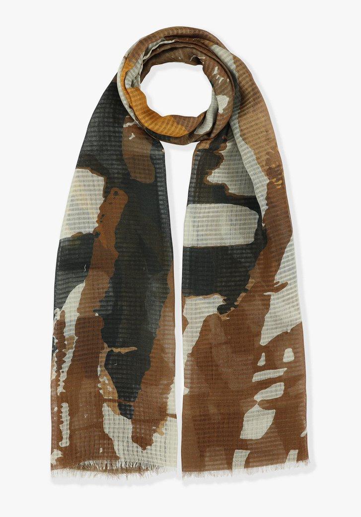 Bruin-zwart gevlekte sjaal
