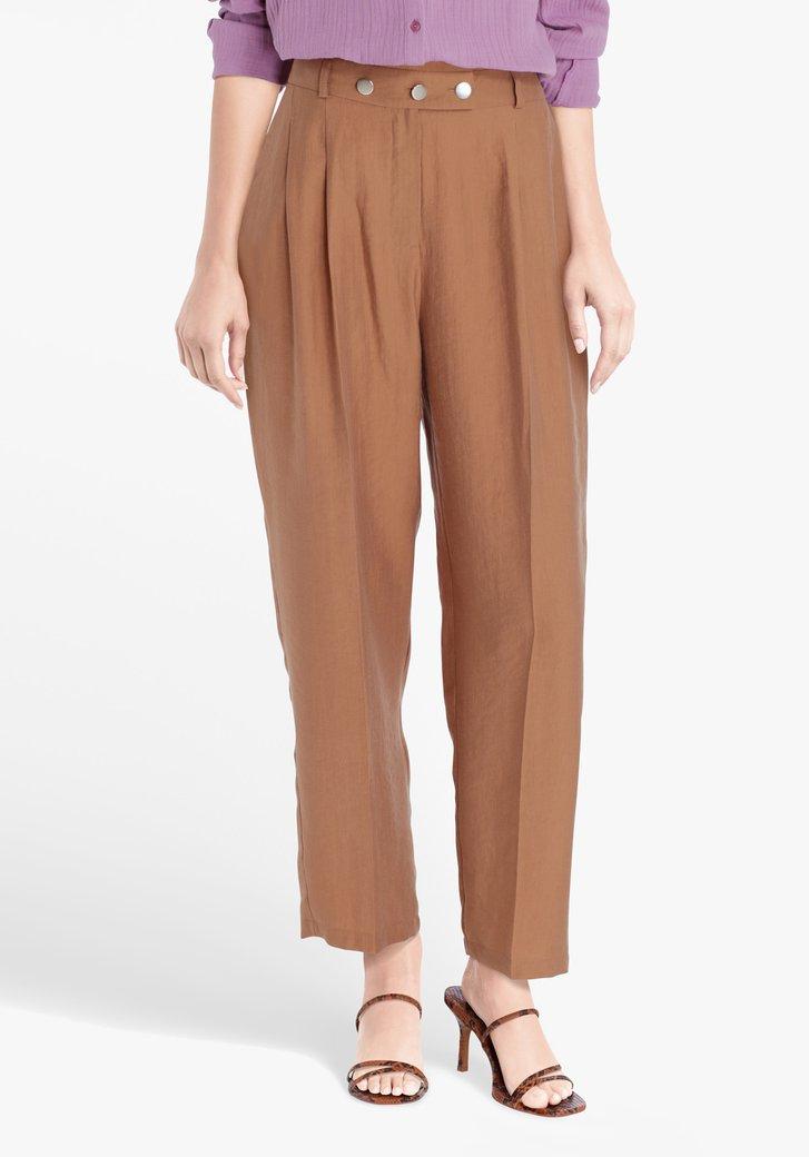 Bruine geklede broek