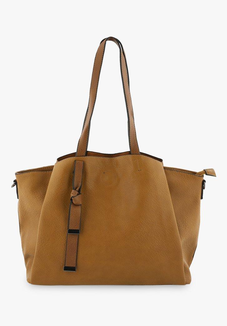 Bruine handtas met schouderriem