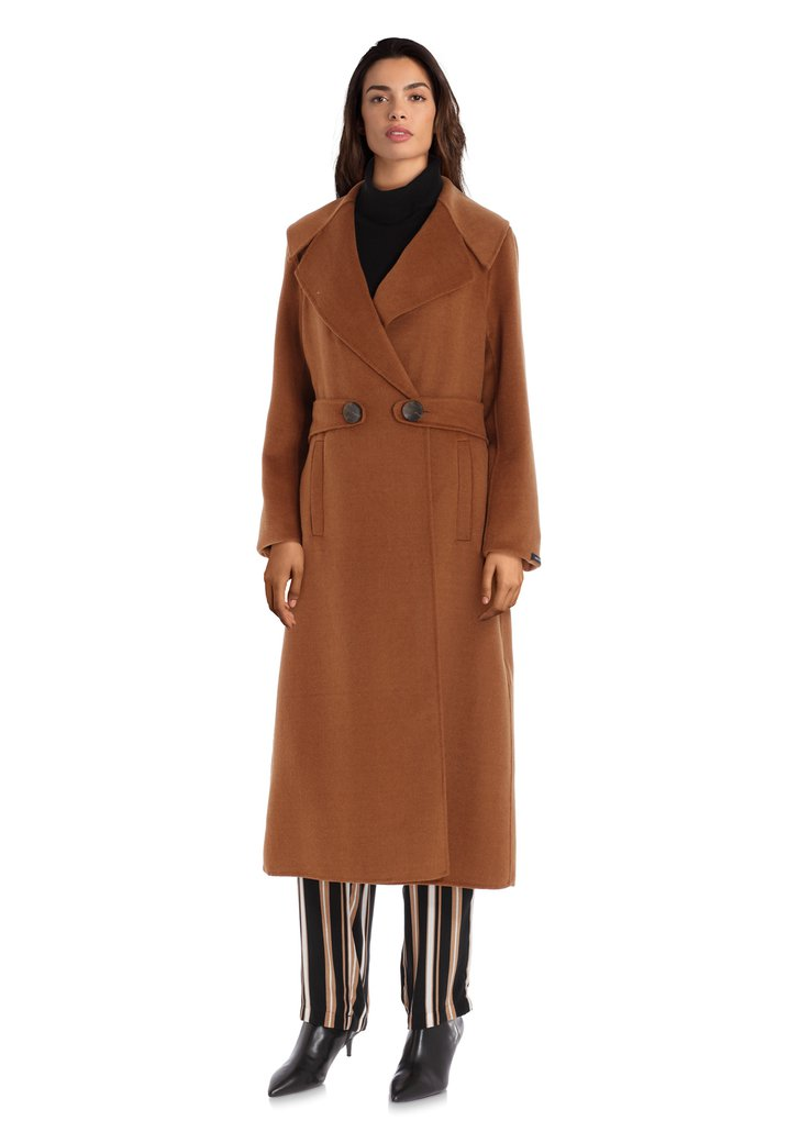 Afbeelding van Camel handgemaakte wollen mantel
