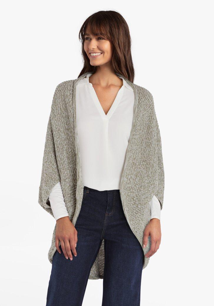 Cape verte en tricot