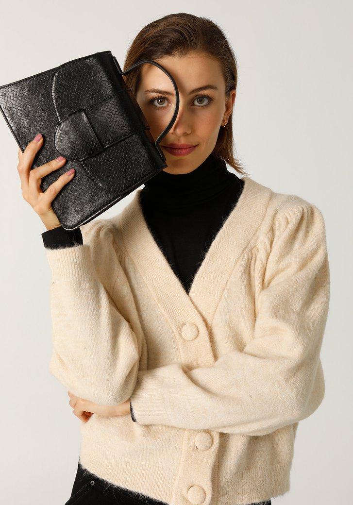 Cardigan beige en tricot
