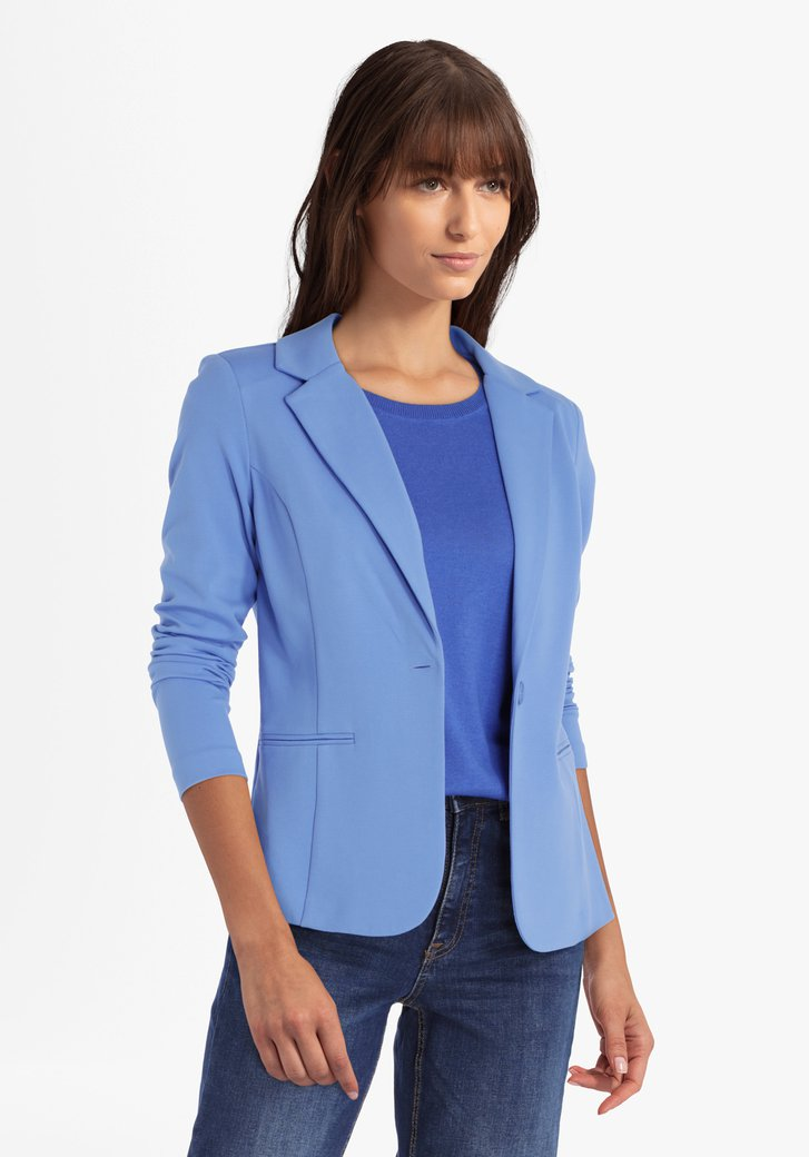 Cardigan bleu avec col en V