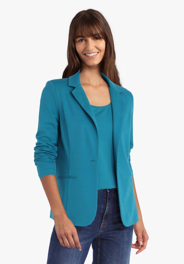 Cardigan bleu-vert avec col en V