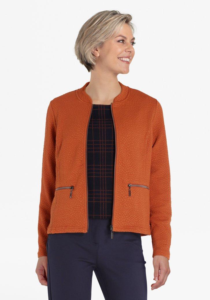 Cardigan brun-orange