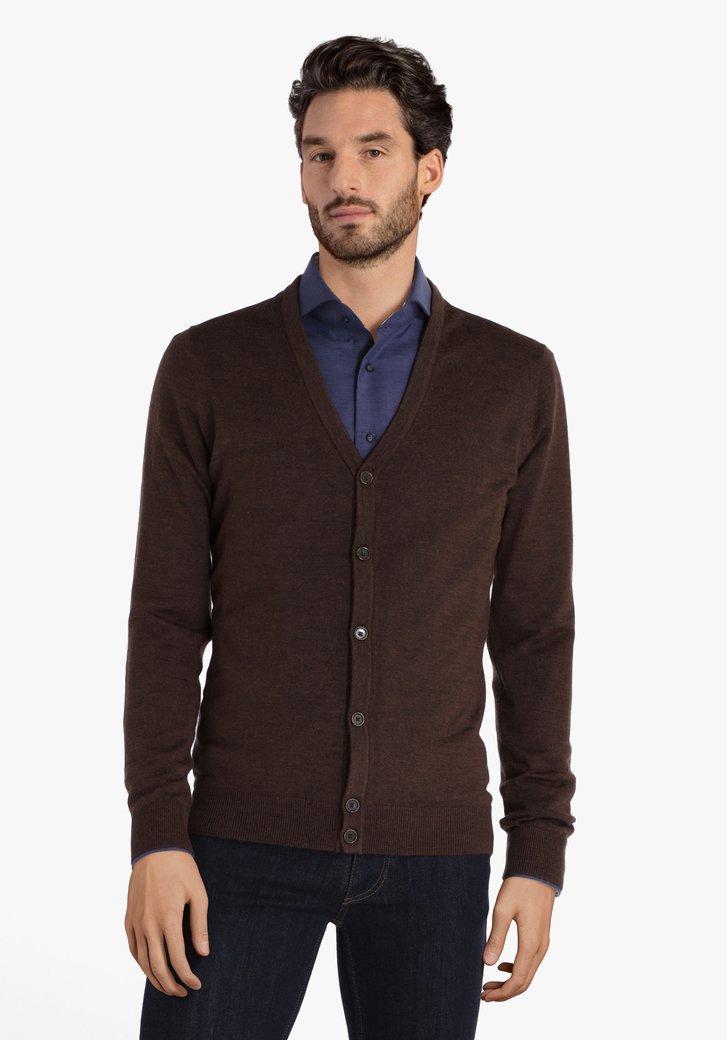 Cardigan brun