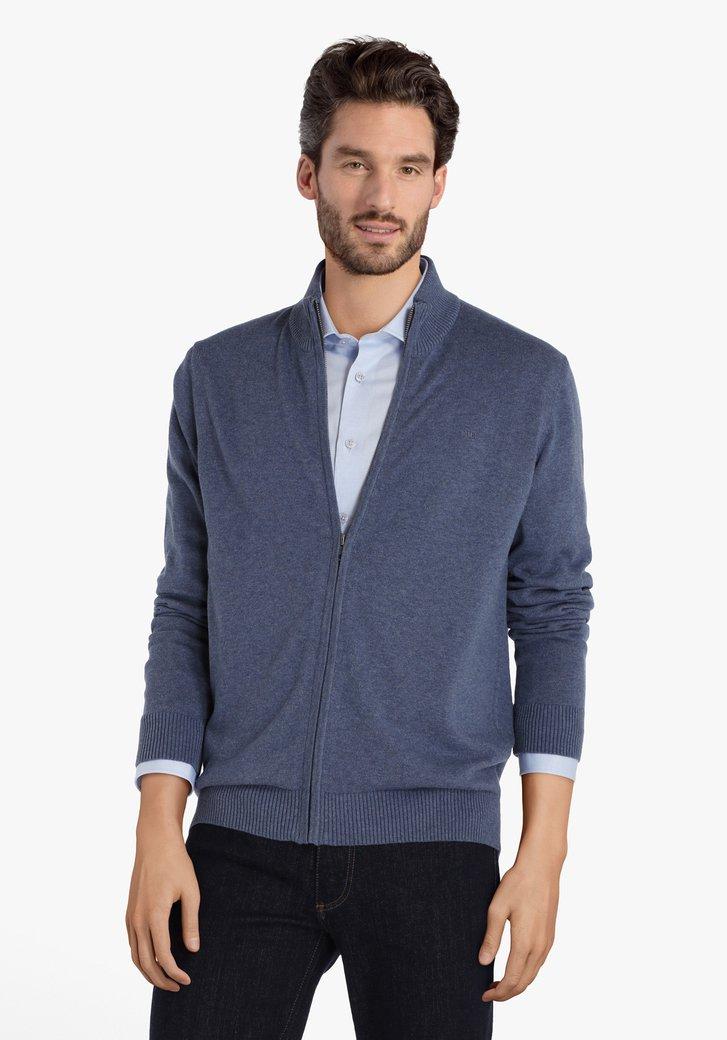 Cardigan en coton bleu
