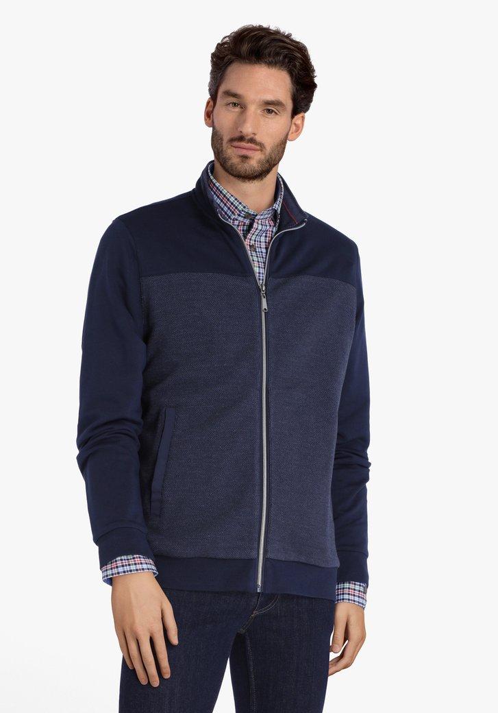 Cardigan en coton bleu foncé