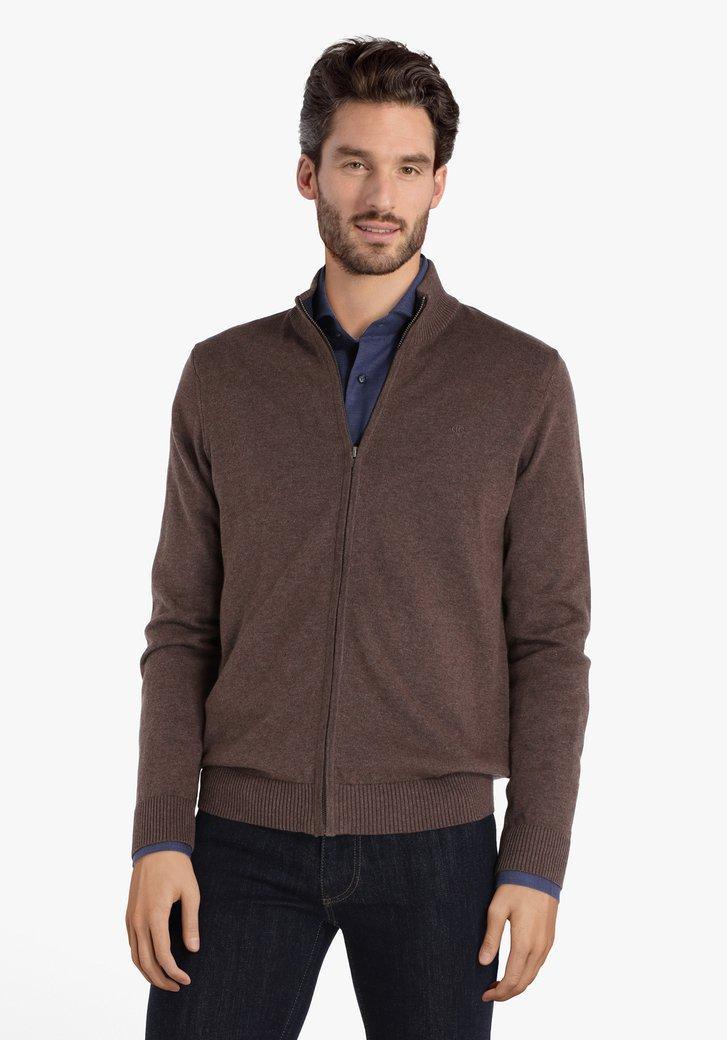 Cardigan en coton brun
