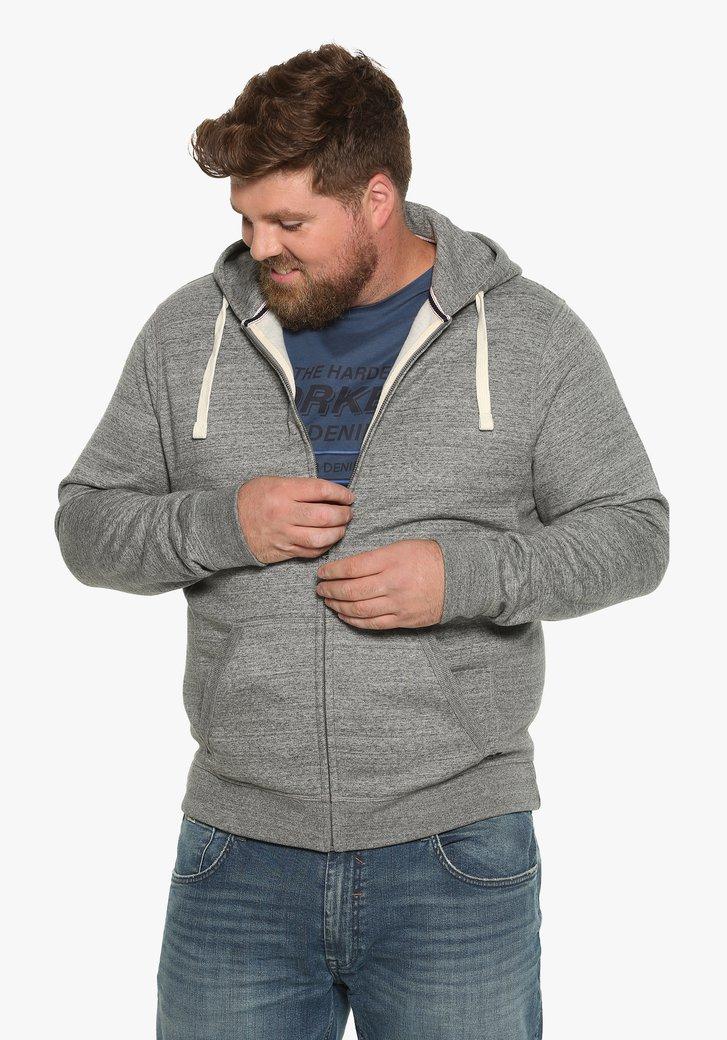 Cardigan gris à capuche