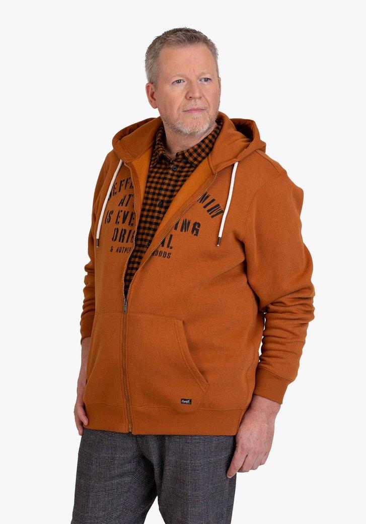 Cardigan marron-orange