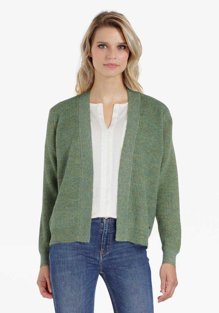 Cardigan vert avec paillettes