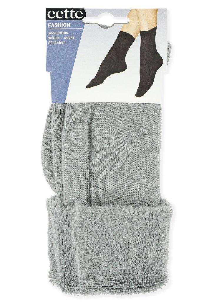 Chaussettes grises à revers