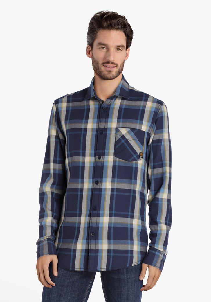Chemise à carreaux bleu-blanc