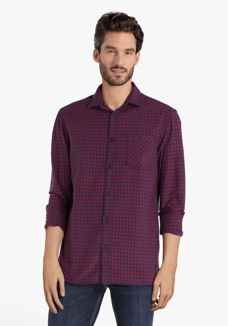 Chemise à carreaux bleu rouge