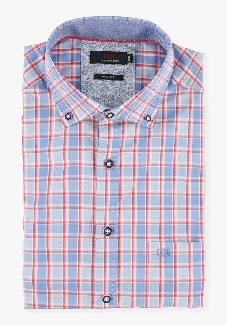Chemise à carreaux bleu-rouge - regular fit