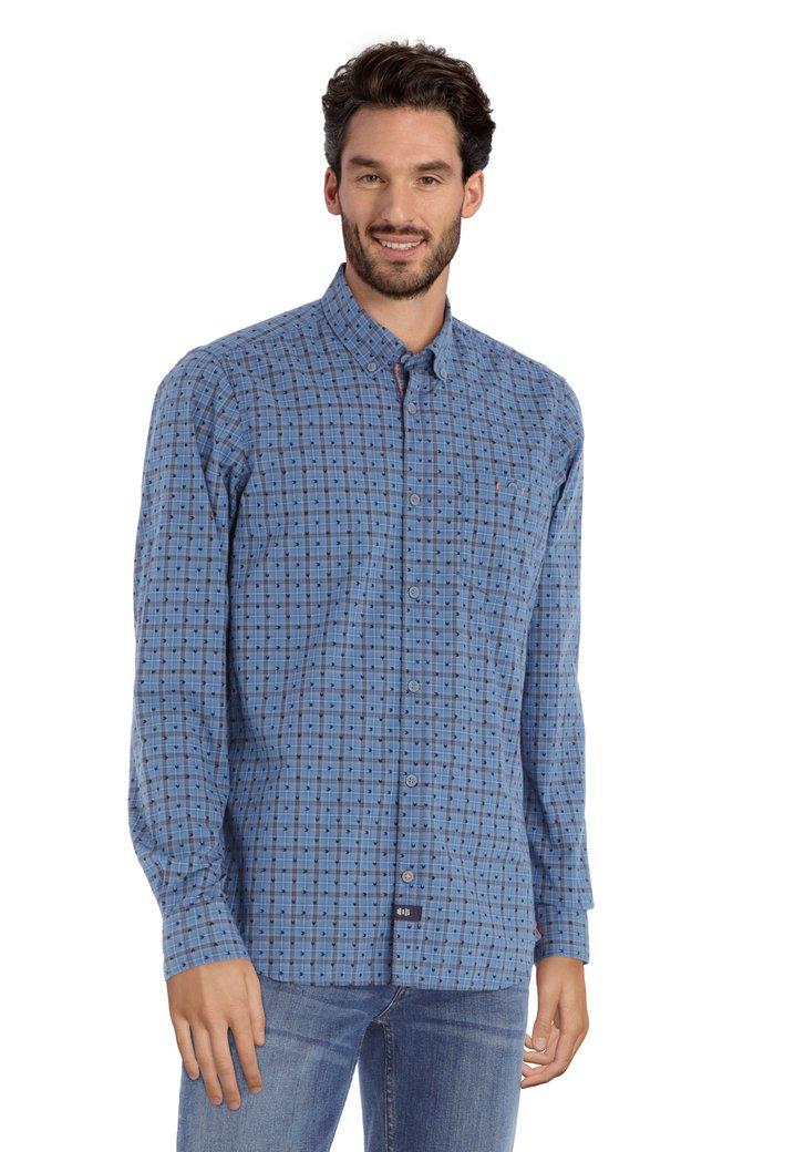 Chemise à carreaux bleus
