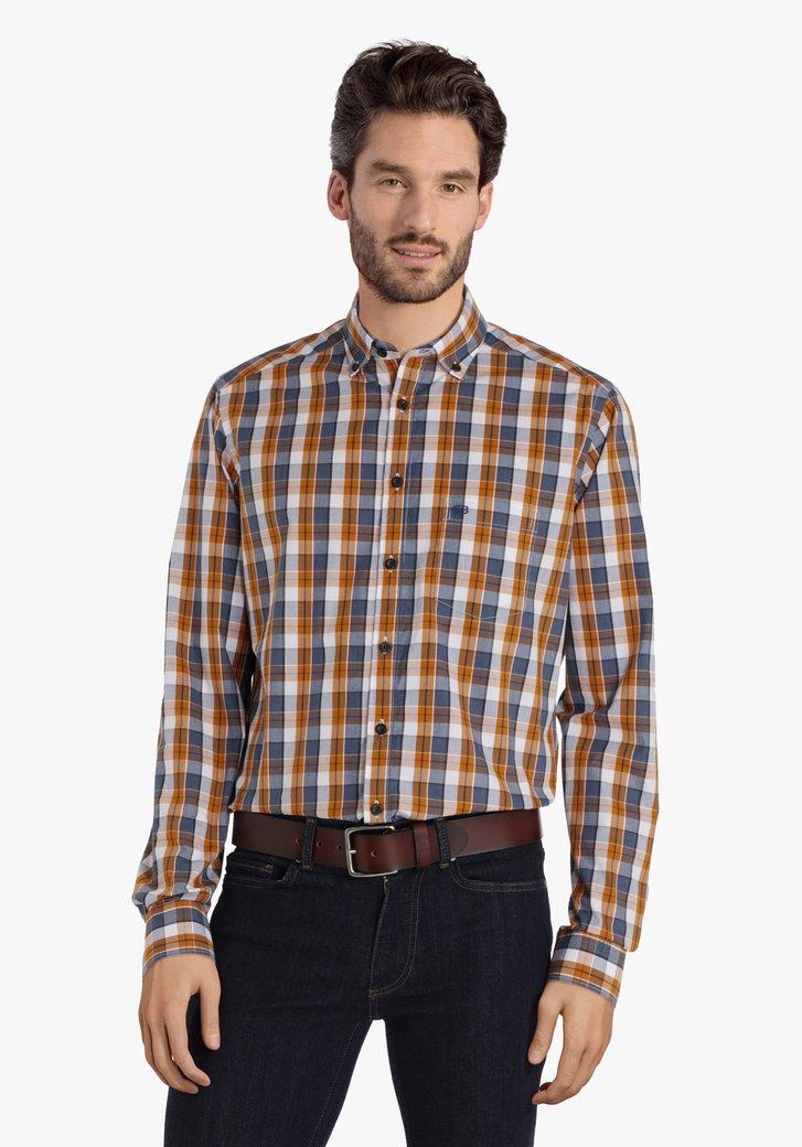 Chemise à carreaux en trois couleurs - regular fit