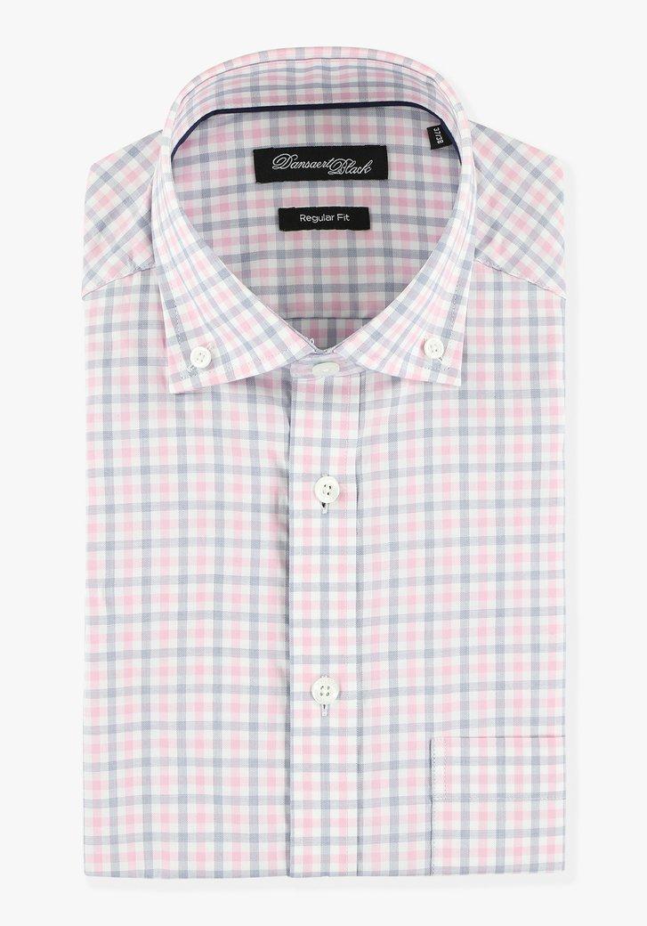 Chemise à carreaux et manches courtes -regular fit