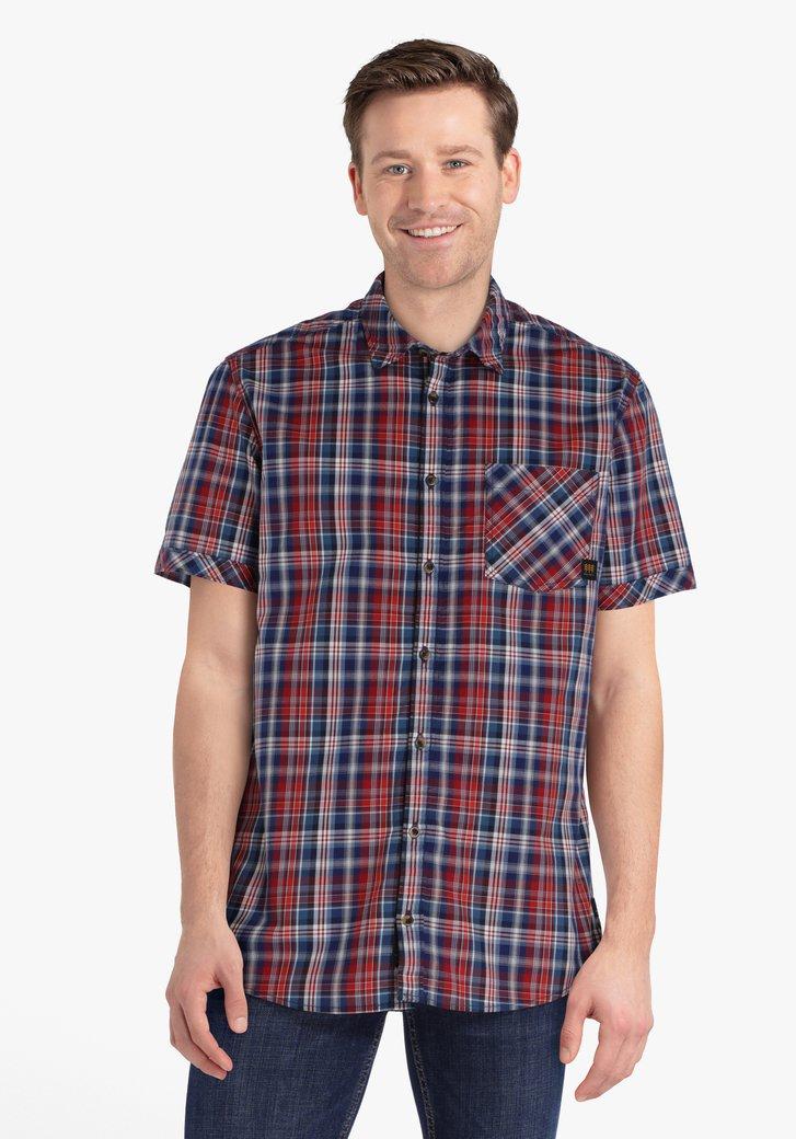 Chemise à carreaux rouge et bleu - regular fit