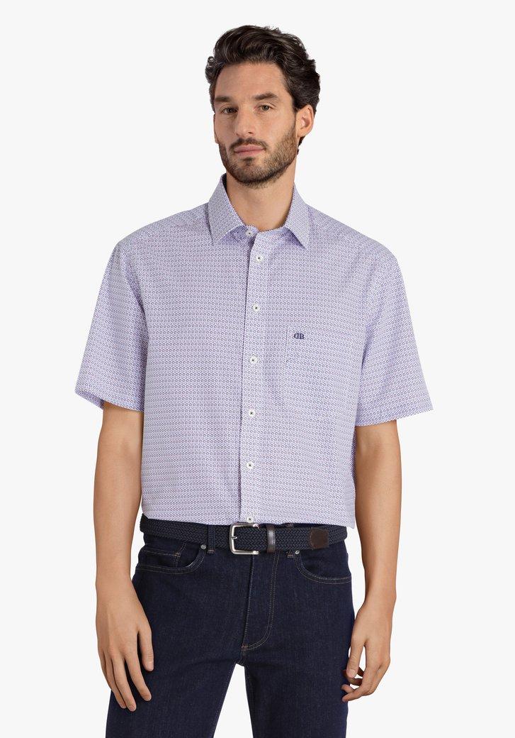 Chemise à imprimé bleu - comfort fit
