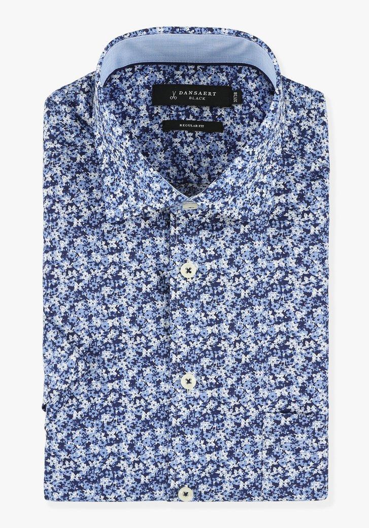 Chemise à imprimé floral bleu marine - regular fit