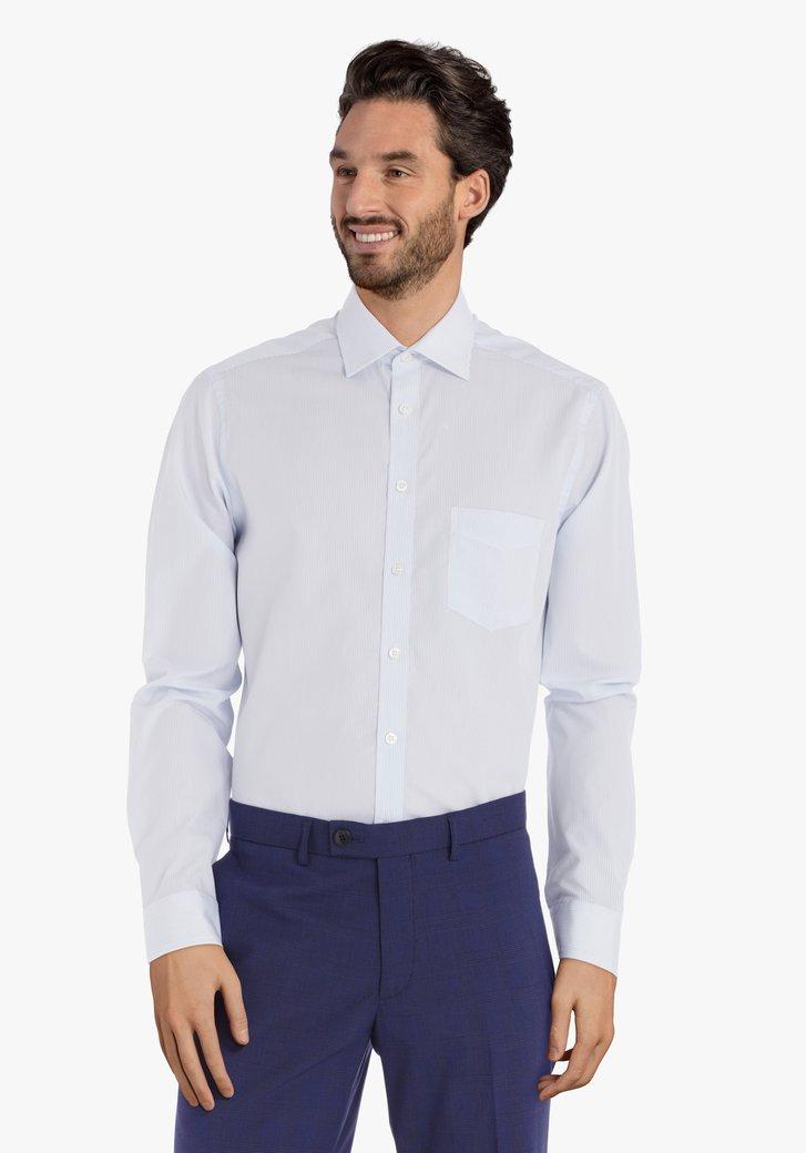 Chemise à rayures bleu clair – regular fit